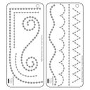 "Bazzill Adhesive Jewel Templates 3.5""X8"" 2/Pkg-Borders by Bazzill: Product Image"
