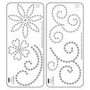 "Bazzill Adhesive Jewel Templates 3.5""X8"" 2/Pkg-Flowers & Flourishes by Bazzill: Product Image"