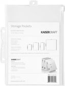 "Pack & Store Storage Pockets A5 (8.25""X6"") 5/Pkg by Kaisercraft: Product Image"