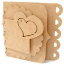 "Beyond The Page MDF Heart Designer Album-8.25""X7.875"" 4 Pages by Kaisercraft: Product Image"