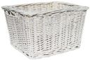 Small Wicker Basket-White by Imagine This!: Product Image