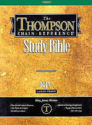 Free ebooks online to download Thompson Chain-Reference Study Bible, Large Print (10 Point) Edition: King James Version (KJV), burgundy bonded leather, gold-edged 9780887071508 in English PDB by Kirkbride Bible & Technology