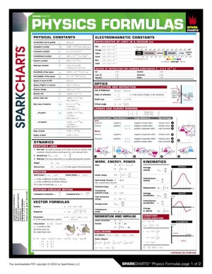 Physics Formulas (SparkCharts)