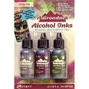 Adirondack Alcohol Ink .5 Ounce 3/Pkg-Cottage Path-Slate/Currant/Meadow by Ranger: Product Image