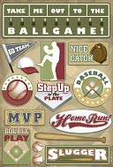 Baseball Cardstock Stickers 5.5&quot;X9&quot;-MVP by Karen Foster: Product Image