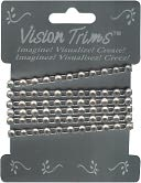 "Geinuine Rhinstone Trim 36""-Silver by Vision Trims: Product Image"