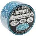 Decorative Packing Tape 1.875&quot; Wide 25 Yard Roll-Teal Daisy by Fancy That: Product Image