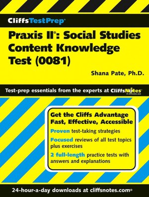 CliffsTestPrep Praxis II Social Studies Content Knowledge 0081 cover