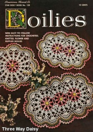 Doilies Lot 8 Vintage Crochet doily Pattern Books for sale