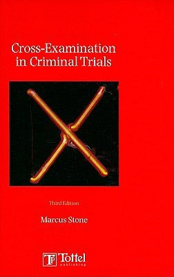 Cross Examination in Criminal Trials cover