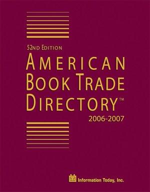 American Book Trade Directory 2006 2007 cover