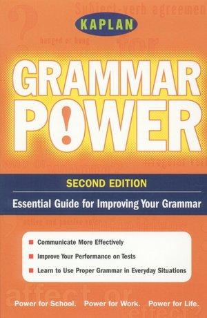 Kaplan Grammar Power Essential Guide for Improving Your Grammar cover