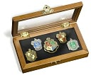 Harry Potter Hogwarts House Pins by The Noble Collection: Product Image