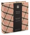 Black and Tan Plaid Travel Photo Album by Gallery Leather: Product Image
