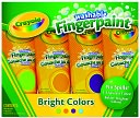 Crayola 4 Count Washable Fingerpaint Secondary Colors by Crayola: Product Image