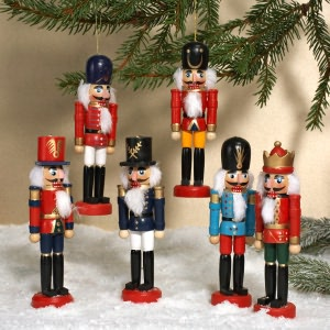 BARNES & NOBLE | Wooden Nutcracker Ornament Set of 6 by Kurt S. Adler