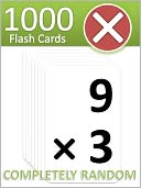 1000 Multiplication Flash Cards by FatMath: NOOK Book Cover