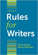 Rules for Writers by Diana Hacker: Book Cover