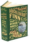 The Adventures of Huckleberry Finn and Other Novels (Barnes &amp; Noble Leatherbound Classics) by Mark Twain: Book Cover