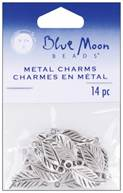 Blue Moon Silver Plated Metal Charms-Leaf 14/Pkg by Blue Moon Beads: Product Image