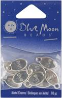 Blue Moon Silver Plated Metal Charms-Live 10/Pkg by Blue Moon Beads: Product Image