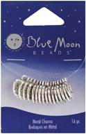 Blue Moon Plated Metal Dangle Charms-Silver Made With Love 16/Pkg by Blue Moon Beads: Product Image