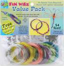 Plastic Coated Fun Wire Value Pack 9 Foot Coils-24 Gauge Translucent 6/Pkg by Toner: Product Image