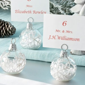 BARNES & NOBLE | Snowflake Place Card Holders With Snow by Kurt S. Adler from barnesandnoble.com