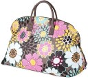Mocha Flower Weekender Bag by Room It UP: Product Image