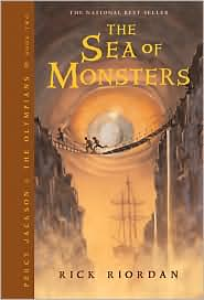 The Sea of Monsters (Percy Jackson and the Olympians Series #2) by Rick Riordan: Book Cover