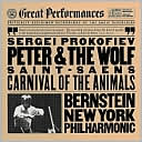 Prokofiev: Peter and the Wolf / Saint-Saëns: The Carnival of the Animals by Leonard Bernstein: CD Cover