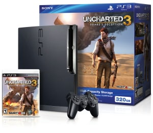 PlayStation 3 Slim 320GB Uncharted 3 Bundle