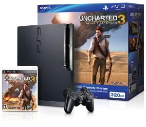 PlayStation 3 Slim 320GB Uncharted 3 Bundle
