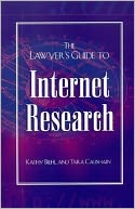 download The Lawyer's Guide to Internet Research book