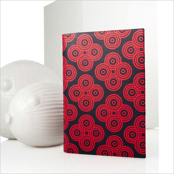 Jonathan Adler Mandala Cover in Navy and Red