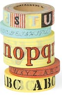Alphabet Decorative Paper Tape by Cavallini & Co.: Product Image