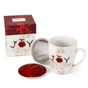 BARNES & NOBLE | Lidded Tea Mug with Strainer - Joy by Barnes & Noble :  kitchen essentials housewares kitchen items
