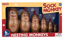 Sock Monkey Nesting Monkeys by Schylling: Product Image
