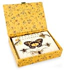 Bee Glass Top Boxed Note Card Set of 12 by Fringe: Product Image