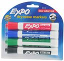 Expo Dry Erase Markers Primary Colors 4 PK by United Supply Corp.: Product Image