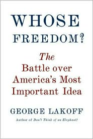 Whose Freedom? by Lakoff: Book Cover