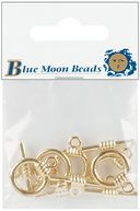 Blue Moon Bar &amp; Ring Toggle Clasps 5/Pkg-Gold by Blue Moon Beads: Product Image