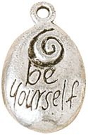 Blue Moon Silver Plated Metal Charms-Be Yourself 5/Pkg by Blue Moon Beads: Product Image