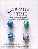 A Bead At A Time Glass Bead Value Pack 4/Pkg-Light Turquoise by Janlynn: Product Image