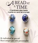 A Bead At A Time Glass Bead Value Pack 4/Pkg-Light Blue by Janlynn: Product Image
