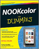 NOOKcolor For Dummies by Corey Sandler: NOOK Book Cover