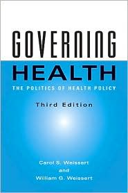 Governing Health by Carol S. Weissert: Book Cover