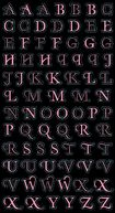 Bling Stickers-Light Pink Mini Foil Alphabet by Jolees: Product Image