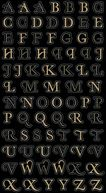 Bling Stickers-Gold Mini Foil Alphabet by Jolees: Product Image