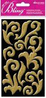 Bling Stickers-Gold Puffy Flourish by Jolees: Product Image